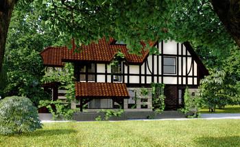 Проект фахверкового дома №2