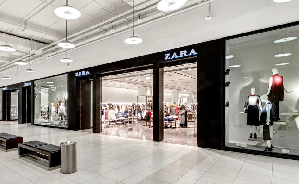 Магазины (ZARA, Bershka, Stradivarius, ZARA HOME, Pull&Bear, Oysho, Massimo Dutti, Mothercare, Victoria Secret, La Senza, American Eagle, Payless)
